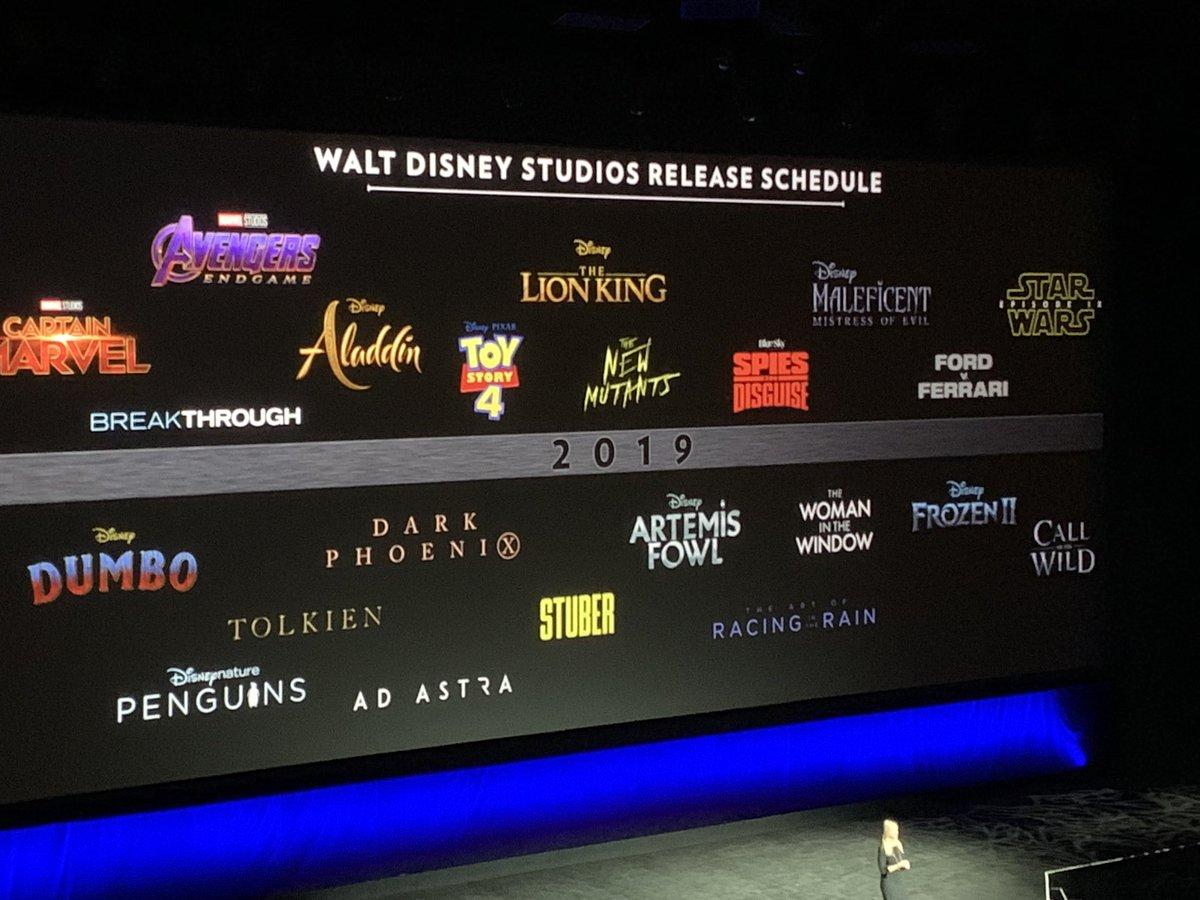 Cinemacon 2019 Schedule Disney Unveil 2019 Movie Lineup At CinemaCon | What's On Disney Plus
