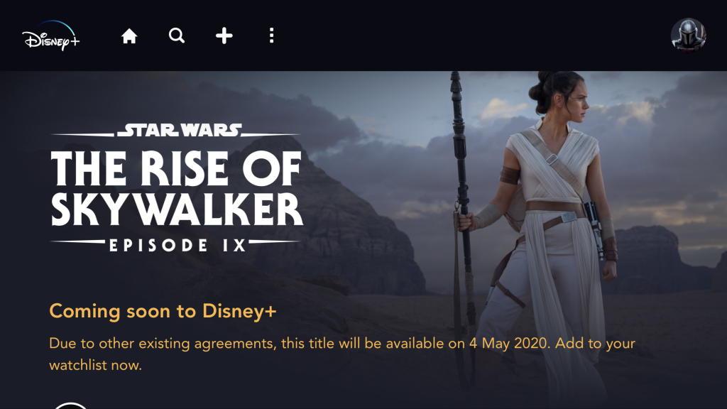 Star Wars The Rise Of Skywalker Coming To Disney On May 4th What S On Disney Plus