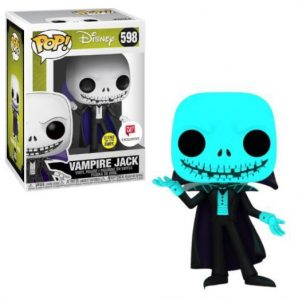 A skeleton in glow-in-the-dark blue, with a cape.