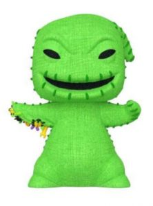 A green burlap sack monster.