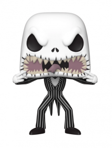 A skeleton opens a sharply-toothed mouth