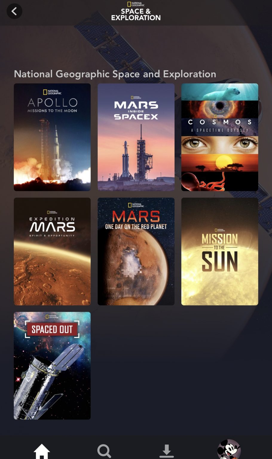 """national geographic """"space and exploration"""" collection"""