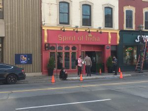 """Exterior of """"Spirit of India"""", a restaurant in the movie """"Spin""""."""