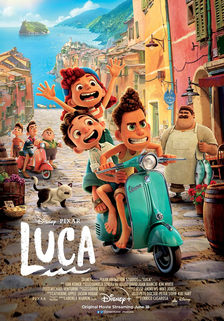 "New Pixar ""Luca"" Poster Released | What's On Disney Plus"